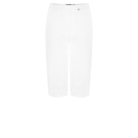 Robell Trousers Bella 05 Power Denim Shorts - White