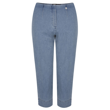 Robell Trousers Marie Power Denim Cropped Jean - Blue