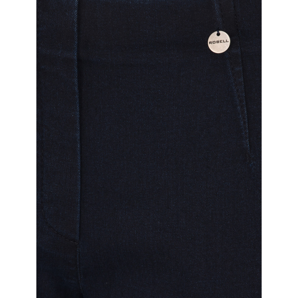 Robell Marie Navy Power Denim Cropped Jean Navy