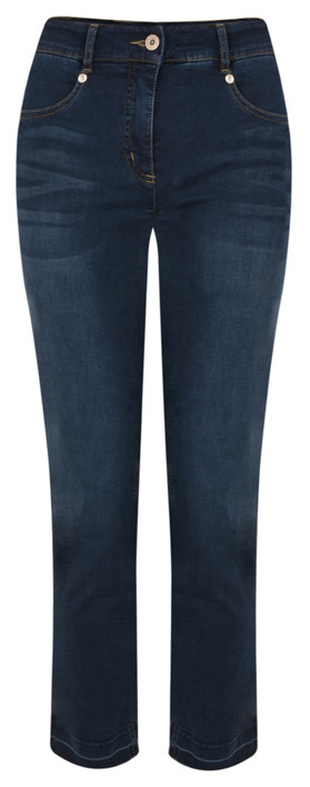 Robell  Elena Slim Fit Cropped Jean Navy