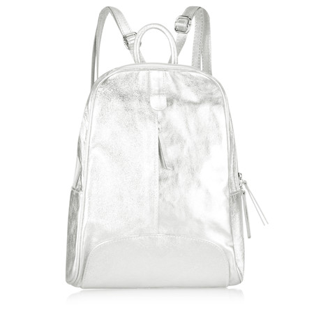 Gemini Label Sicily Leather BackPack - Metallic