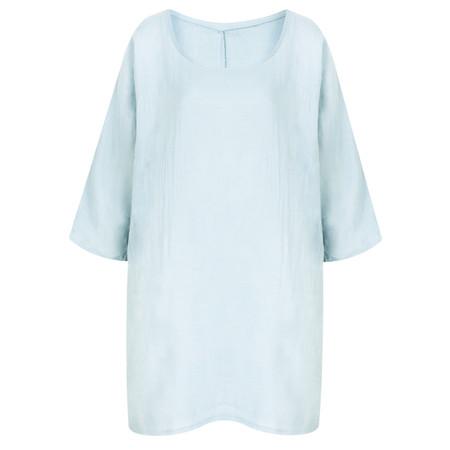 TOC  Bellaby Fine Linen longline T- top - Blue