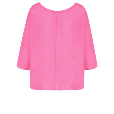 TOC  Billie Linen Easy Fit Top - Pink