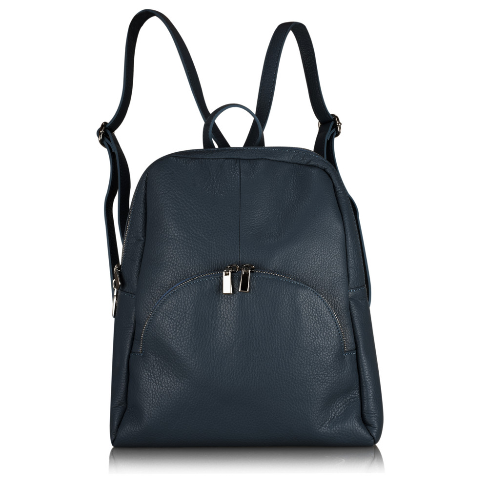 Gemini Label Bags Salerno Leather Backpack Navy