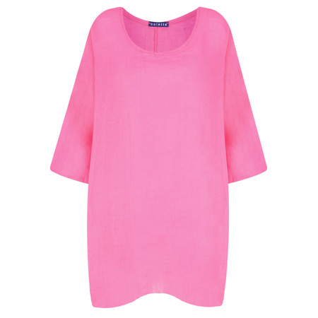 TOC  Bellaby Fine Linen longline T- top - Pink