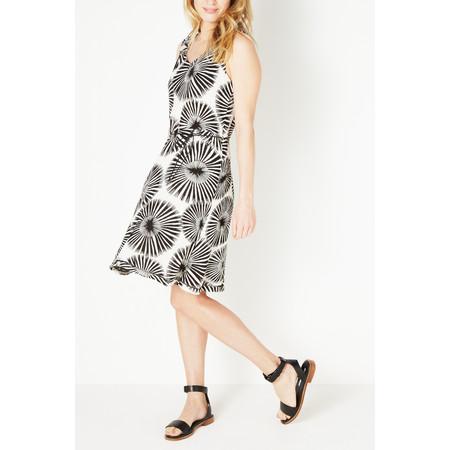 Sandwich Clothing Monochrome Floral Woven Dress - Black