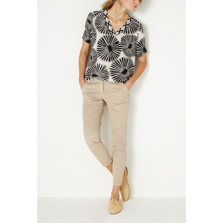 Sandwich Clothing Monochrome Floral Blouse - Black