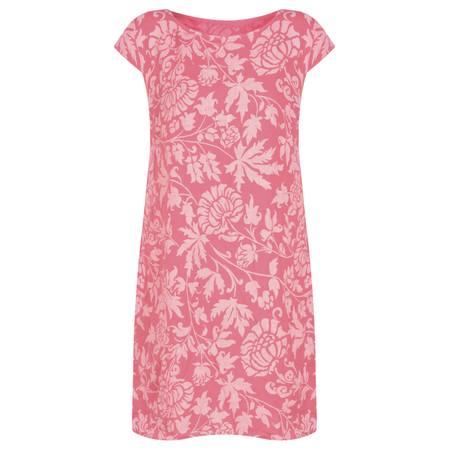 TOC  Dahlia Printed Linen Dress - Pink