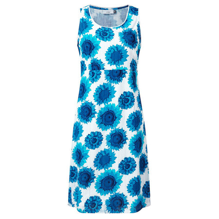 Adini Sunflower Print Sunflower Dress - Blue