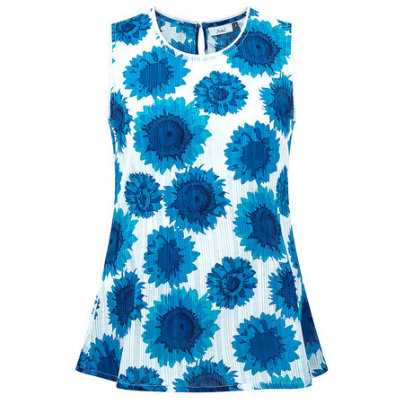 Adini Sunflower Print Pacino Top - Blue