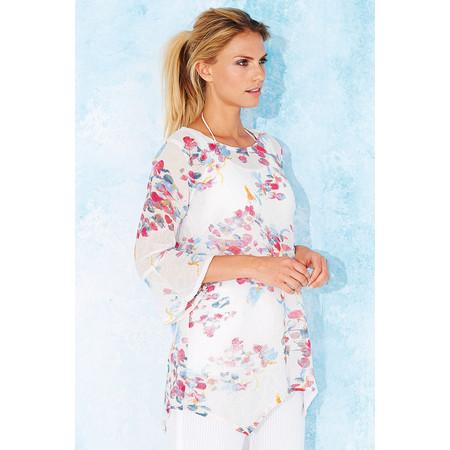 Adini Madeline Print Poppy Tunic - Off-white
