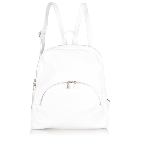 Gemini Label Bags Salerno Leather Backpack - White