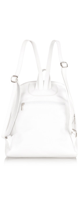 Gemini Label Bags Salerno Leather Backpack White