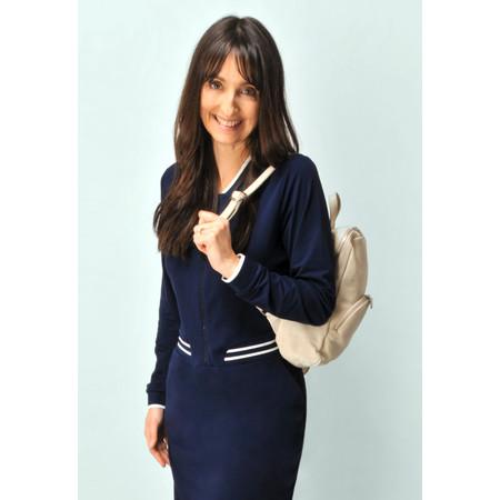 Gemini Label Salerno Leather Backpack - Blue