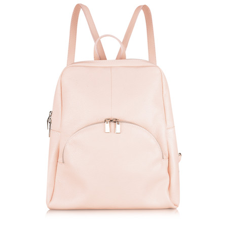 Gemini Label  Salerno Leather Backpack - Pink
