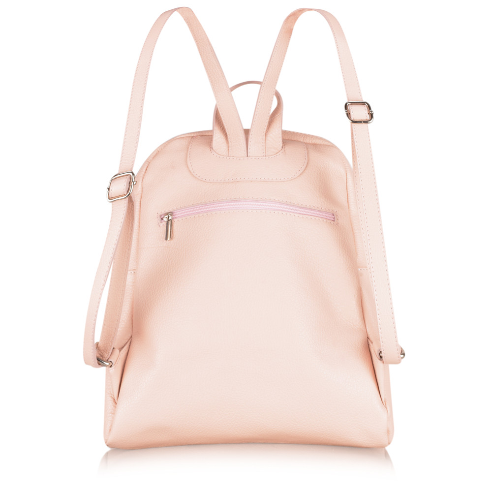 Gemini Label Bags Salerno Leather Backpack Baby Pink