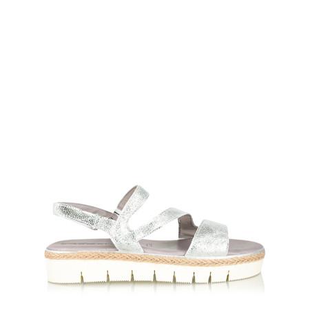Tamaris  Heidi Flatform Sandal - Metallic