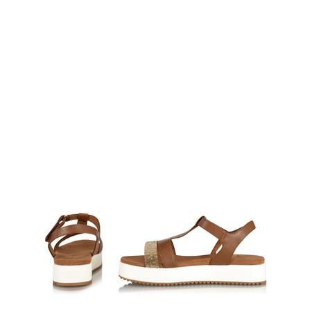 Marco Tozzi Nuha Flatform Sandal - Brown