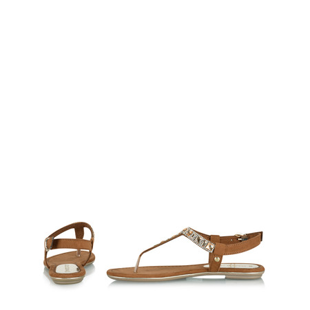Marco Tozzi Hyldie Beaded Flat Sandal - Brown