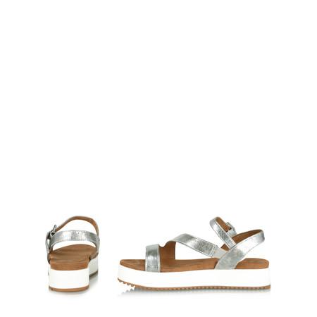 Marco Tozzi Dolcie Flatform Sandal - Metallic