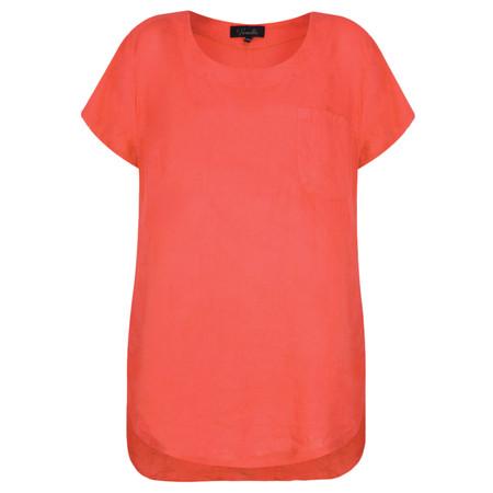 Fenella  Agata Oversized Linen Top  - Orange