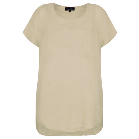 Fenella  Agata Oversized Linen Top  - Beige