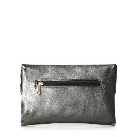 Gemini Label Rieti Leather Clutch - Metallic