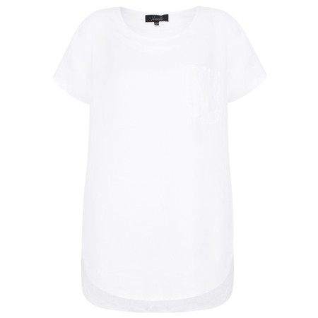 Fenella  Agata Oversized Linen Top  - White