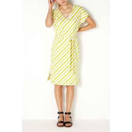 Sandwich Clothing Diagonal Stripe Jersey Dress - Green