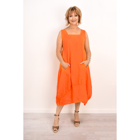 TOC  Demelza Linen Dress - Orange