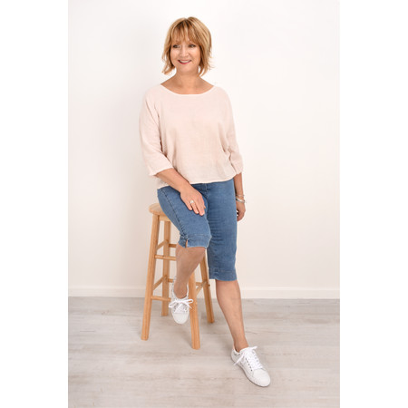 TOC  Billie Linen Easy Fit Top - Pink