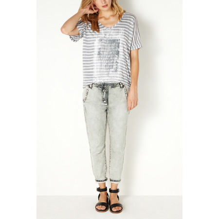 Sandwich Clothing Striped Sunny Days Top - Grey