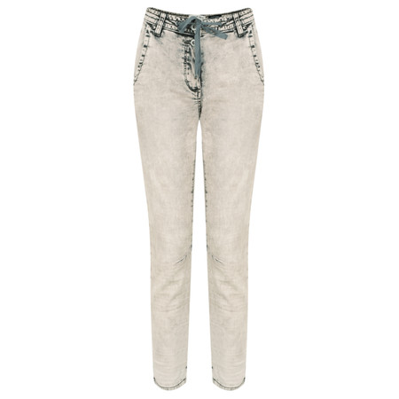 Sandwich Clothing Demin Casual Cropped Trouser - Grey