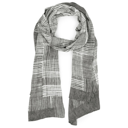 Sandwich Clothing Abstract Check Woven Scarf - Grey