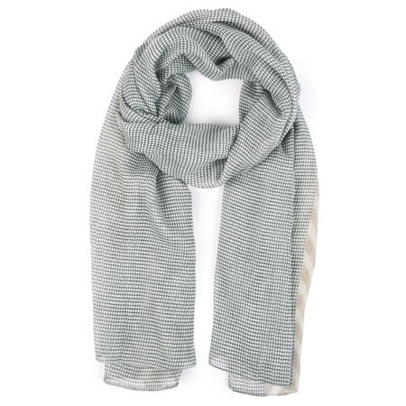 Sandwich Clothing Small Check Woven Scarf - Grey