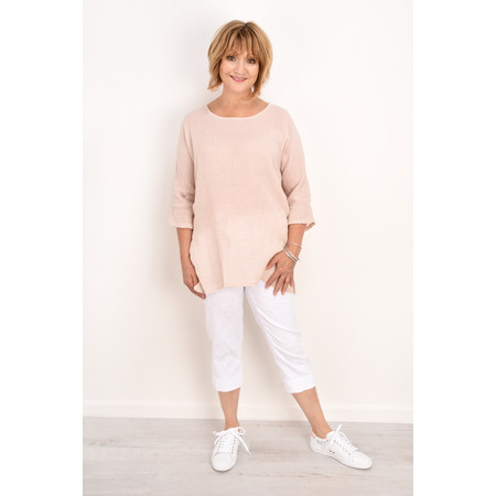 TOC  Bellaby Fine Linen longline T- top - Pink