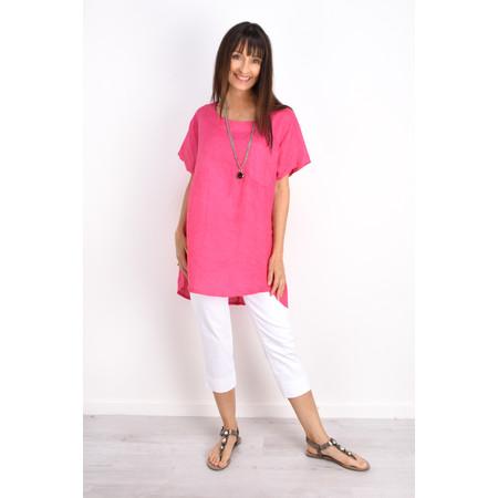 Fenella  Agata Oversized Linen Top  - Pink