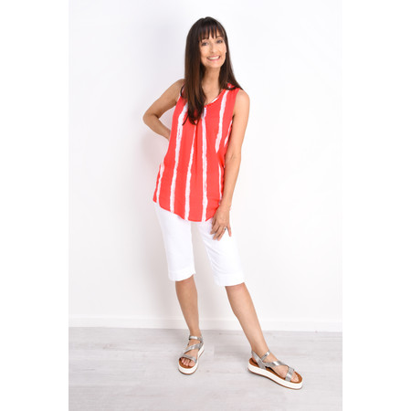 Sandwich Clothing Sleeveless Striped Blouse - Pink
