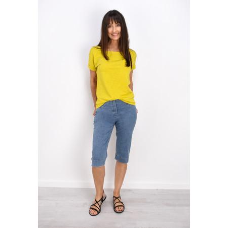 Robell Trousers Bella 05 Power Denim Shorts - Blue