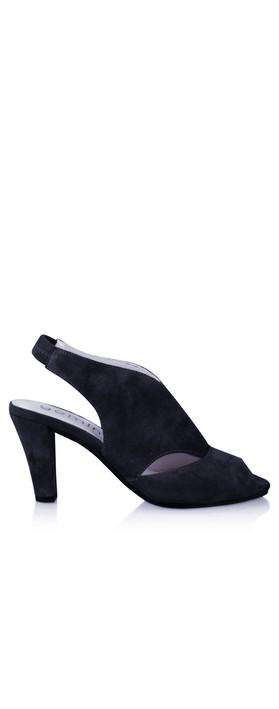 Gemini Label Shoes Valencia Navy Suede Sandal Shoe Navy