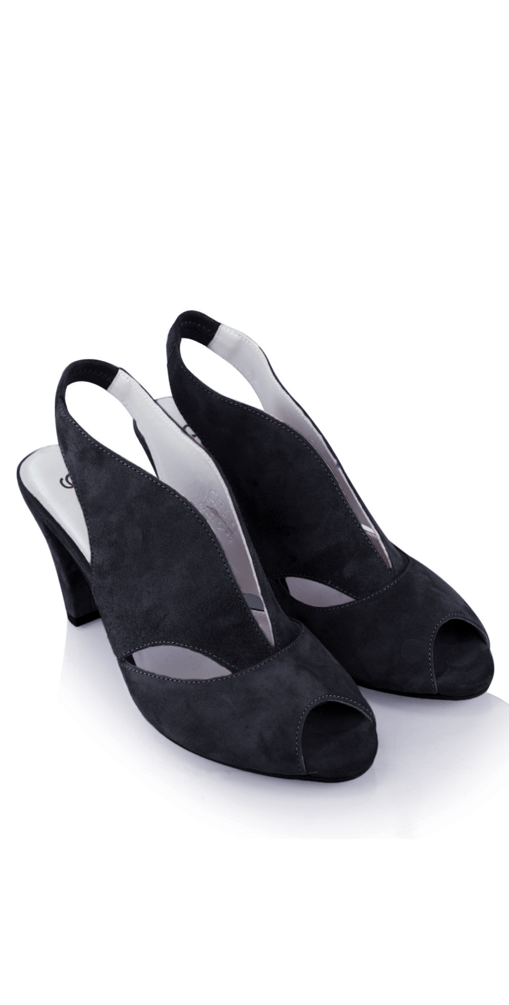 Valencia Navy Suede Sandal Shoe main image