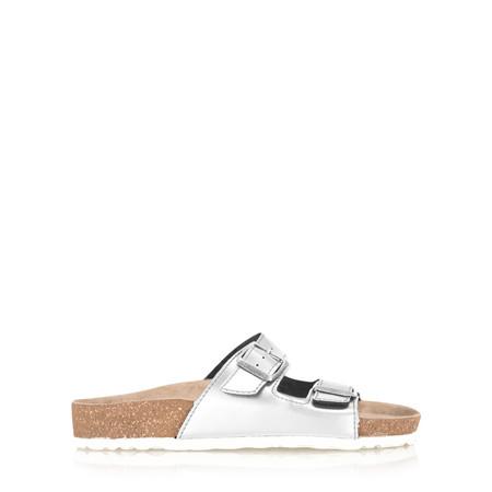 Marco Tozzi Ariana Mirror Metallic Sandal - Metallic