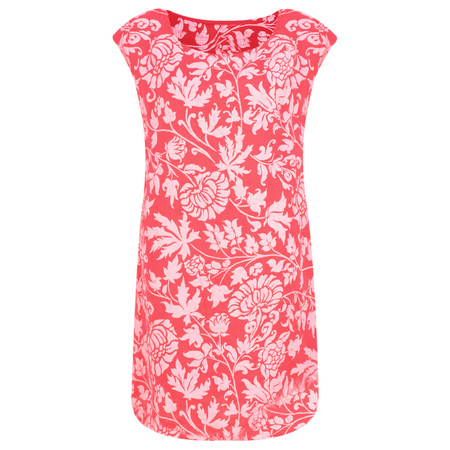 TOC  Dahlia Printed Linen Dress - Pink