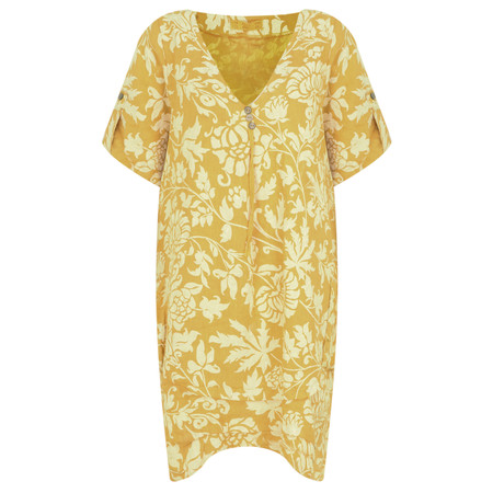 TOC  Dahlia Linen Tunic - Yellow
