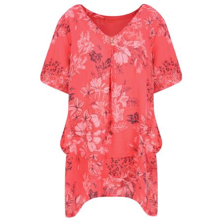 Arka Flora Linen Tunic - Pink