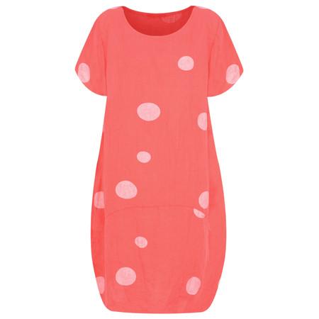 Arka Dottie Linen Dress - Pink