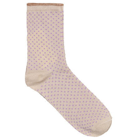 BeckSondergaard Dina Small Dots Socks - Purple