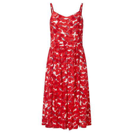Adini Orly Print Carly Dress - Red
