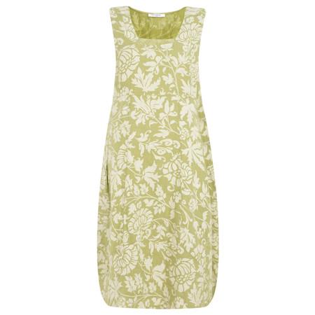 TOC  Dahlia Long Printed Linen Dress - Green