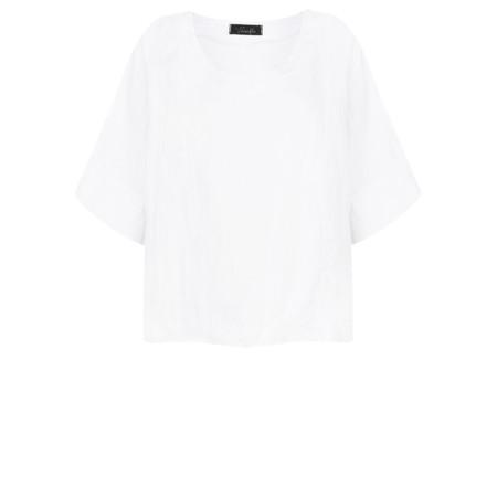 Fenella  Angie Boxy Linen Top - White